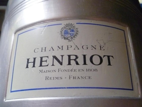 Vintage French Henriot Champagne Ice Bucket, Cooler.