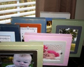 Set of 6 Chunky 5x7 Painted Wood Picture Frames Distressed Pick Your Colors
