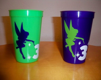 TINKER BELL BIRTHDAY party favor cups (set of 5)