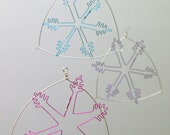 SPECIAL OFFER 5 x Snowflake wire hangings / tree ornament Christmas decoration / gift