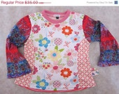 ON SALE Girls tea party Tshirt - Farbenmix style - size 6