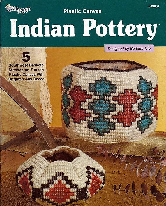 Indian Pottery Plastic Canvas Pattern  The Needlecraft Shop 843031