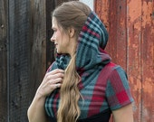 IZAR / Winter Italian wool -Tunic Cowl neck// Hoodie style