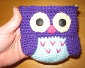 Crocheted Owl coin purse - made to order