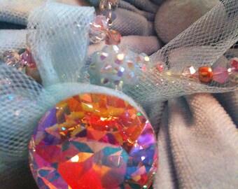 Cinderella Glass Slipper Tulle Swarovski Necklace