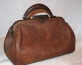 Doctor Bag Medical Leather Steampunk Victorian Brown Leather Doctors Bag