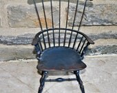 River Bend Chair Co. Windsor Doll Wooden Side Sackback Chair
