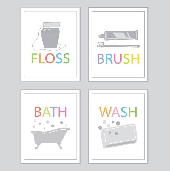 Items similar to bathroom wall decor bath wash brush for Bathroom decor etsy