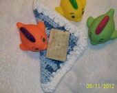 Baby Boy, 100% cotton wash cloth. 2 ounce bar of cold process Lavender soap. Baby and toddler bath set.