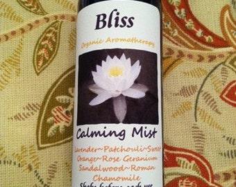 Bliss Organic Calming Mist/Spray teacher gifts, hostess gifts, client gifts employee gifts