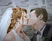 "Wedding Portrait- Custom Watercolor 8""x10"""