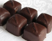 Chocolate Covered Caramels Artisan Candy Homemade Dipped Enrobed 8 oz.