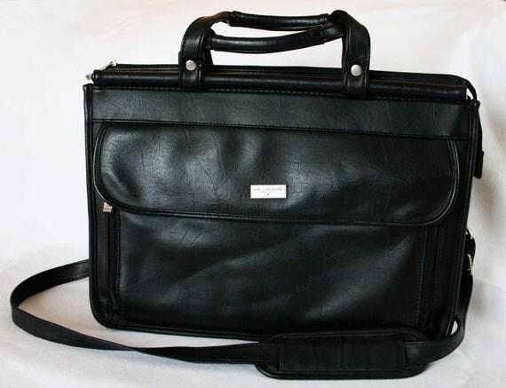 CLEARANCE Vintage U.S. Luggage New York Large Black Accordian