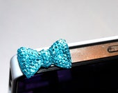 Sparkly Bow Dust Plug for your iPhone or iPad/ Dust Plug/ cellphone decoration/iPhone dust plug