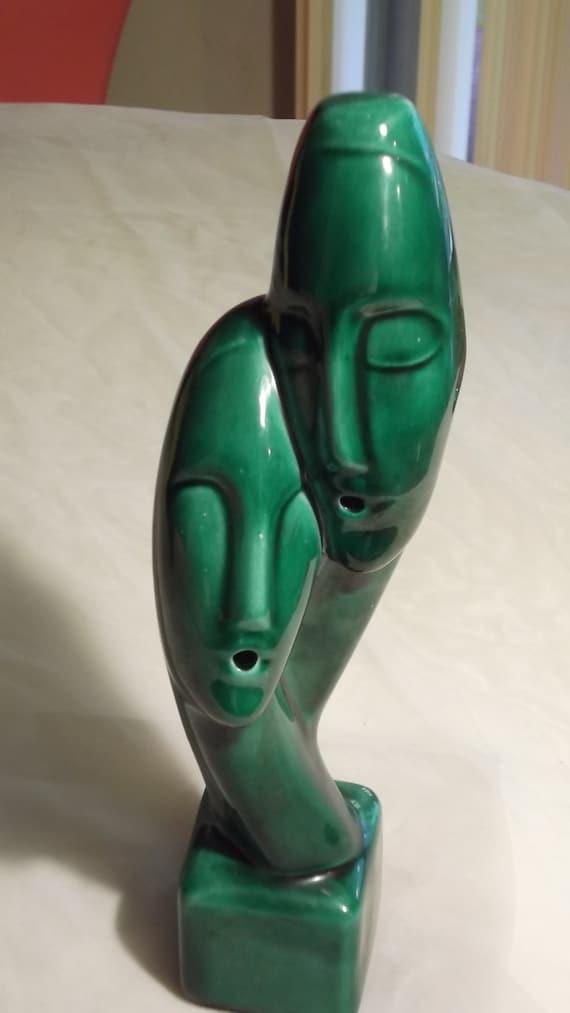 Mid Century Sculpture Of Man and Woman  Ceramic Sculpture 50s 60s Mod