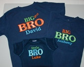 FREE SHIPPING -- Brother t-shirts for three boys or Sister t-shirts for three girls