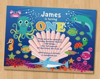 Under the Sea Birthday Party (Photo) Invitation Digital Printable