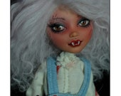 RESERVED - OOAK Fully Customized and Repainted Monster High doll Howleen Wolf - Heartless