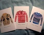 Sweater Card Set