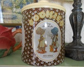 Holly Hobbie Cookie Tin Canister c1970s CheinCo Burlington New Jersey