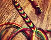 Rasta Adjustable Friendship Bracelet