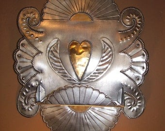 Winged Heart Nicho/ Altar shelf