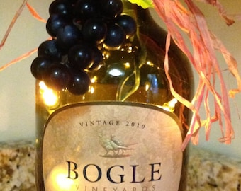 Lighted Wine Bottle Bogle Merlot