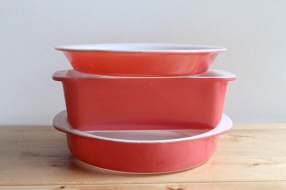 Pink Pyrex Bakeware Set Vintage 1950s By Kitchenculinaria