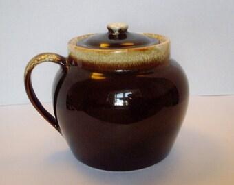 Vintage Pfaltzgraff Bean Pot Gourmet Brown Drip Cookie Jar Storage Canister