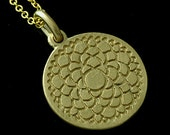 14K Yellow Gold Matte Finish Sahasrara: The Crown Chakra Pendant Necklace