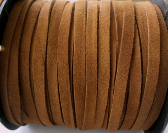 Rich Brown Suede Lace 5 MM Jewelry Cord Garment Quality 5 Yards