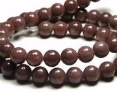 6mm Purple Aventurine Natural Gemstone Round Beads - 16 Inch Strand - BC15