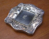 5 Antique Gorham Sterling Silver Rose & Scrolls Individual Butter Pat or Nut Dish A3180