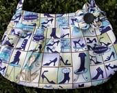 cat Purse, cat bag, cat Handbag, blue