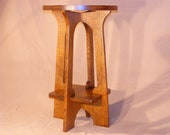New Mission Oak Furniture Arts & Crafts Style Lamp Table Hand Crafted Tabouret