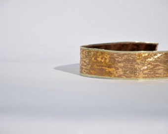 """Headband No-Slip Gold Shimmer 1.5"""" Ribbon"""