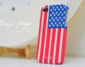 Apple iphone case for iphone iPhone 5 iphone 4 iphone 4s iphone 3Gs : USA ( America ) flag