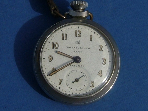 1930s Ingersoll Ltd London Triumph Pocket Watch - Made in Great Britain - In Full Working Order - Dollar Watch