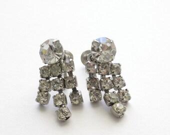 60's Vintage Rhinestone Earrings