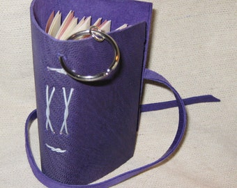 Purple Leather Keychain Book-80 pgs