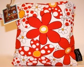 Wet Bag or Eco-Bag Small - Waterproof - Daisies and Dots - Red