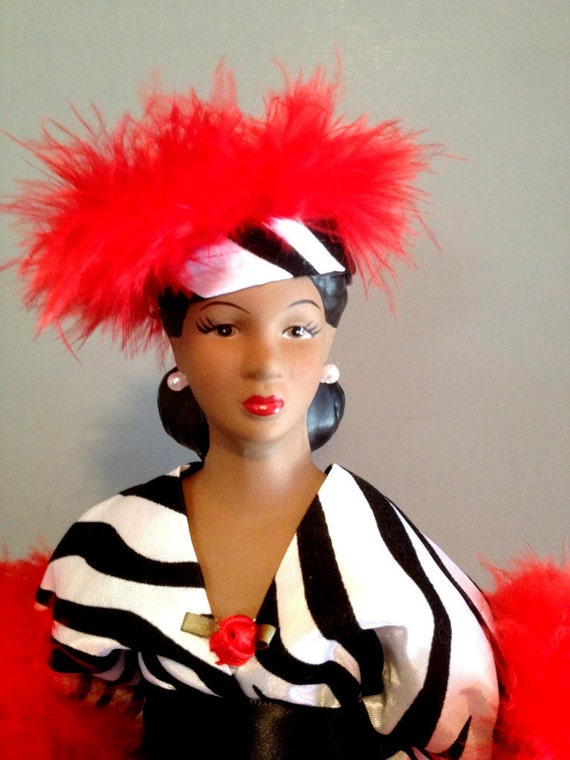 African American Zebra Print Divine Diva - Bible Verse Inspired Home Decor Art Doll - Free Personalization