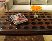 Reclaimed Wood Riddling Rack Coffee Table