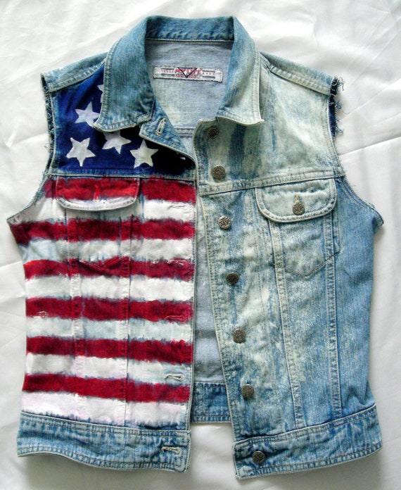 trueiupnbp.gq: american flag denim jacket. From The Community. Amazon Try Prime All American Flag Demin Jacket Sleeveless Vest Sleeveless denim vest Pivaconis Men's Denim USA Flag Jacket Button Front Slim Fit Trucker Coat. by Pivaconis. $ - $ $ 34 $ 40