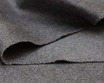 Cashmere Fabric - 61in wide Silver grey coat fabric
