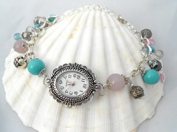 Watch Charm Bracelet Bracelet with Clock