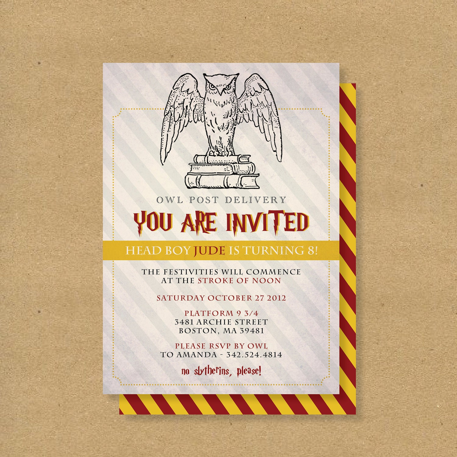 Hervorragend Harry Potter Birthday Invites Free Printables | alesi.info RT95