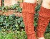 Rusty Orange Upcycled Leg Warmers