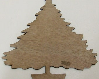 Christmas Tree / Evergreen Tree Wood Cut Out - Laser Cut