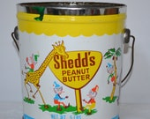 Vintage Shedd's Peanut Butter Can  Tin